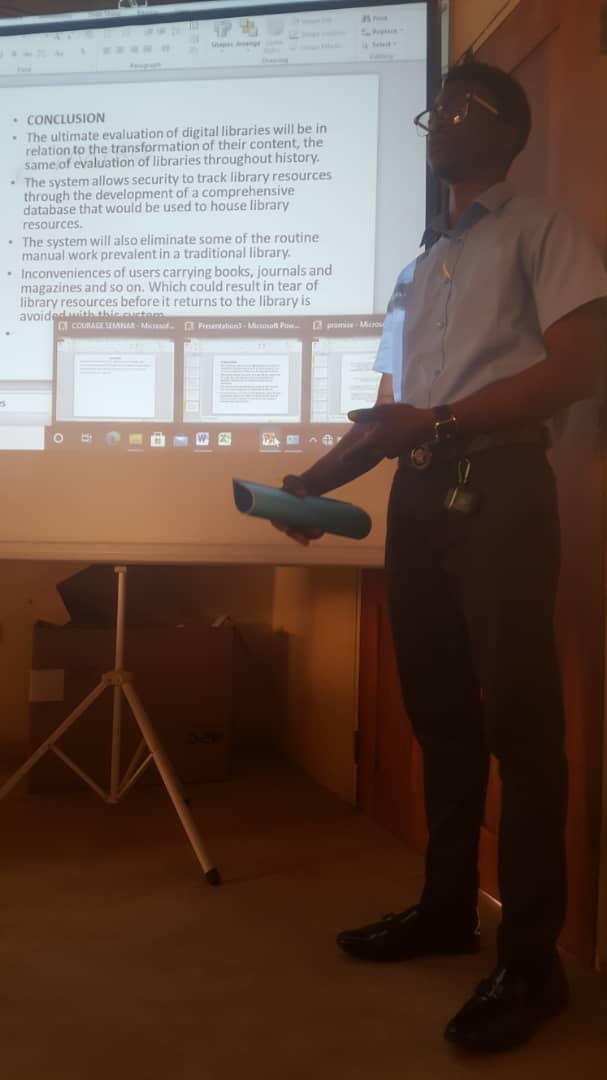 Computer Science Student Presenting Seminar