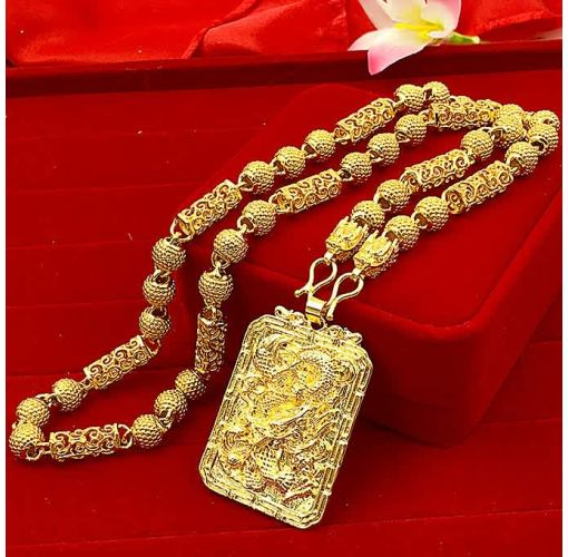 Onitshamarket - Buy Mens Gold-plated Necklace Chain+Pendant Jewelry Gift-Golden