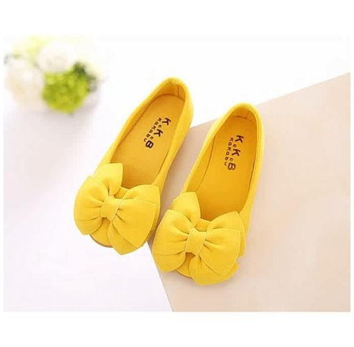 Onitshamarket - Buy Shoes Baby Girl Shoes Children Bow Princess Shoes Yellow Girls Wears / Gifts / Accessories