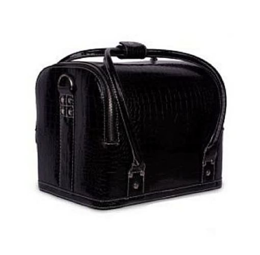 Onitshamarket - Buy Crocodile Leather Make Up Box - Black