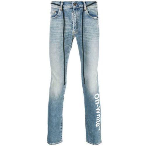 Onitshamarket - Buy OFF-WHITE logo slim-fit jeans
