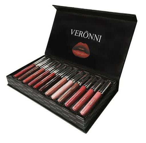 Onitshamarket - Buy Women Hot Matte Liquid Lipstick Set 12 Colors Sexy Moisturizing Lip Gloss for Female Pigment Makeup Batom Mate Rouge Maquillage Makeup