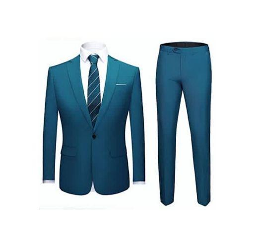 Onitshamarket - Buy Fashion Men's Slim Fit Suit - Prussian Blue