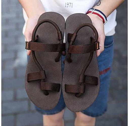 Onitshamarket - Buy Fashion Men's Sandals Light Weight Shock Proof Flip-Flops Brown Slippers and Sandals