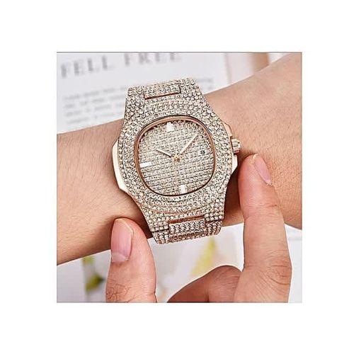 Onitshamarket - Buy Fashion Men's Iced Stone Bracelet Watch