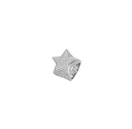 Onitshamarket - Buy Fashion EXCLUSIVE ICED STAR STONED RING - Silver