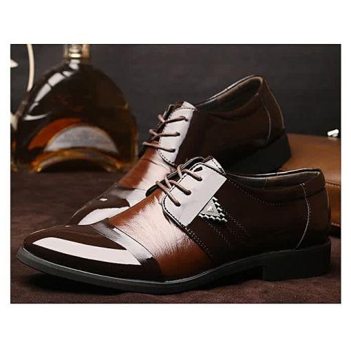 Onitshamarket - Buy Men formal lace up   Pu shoes Brown