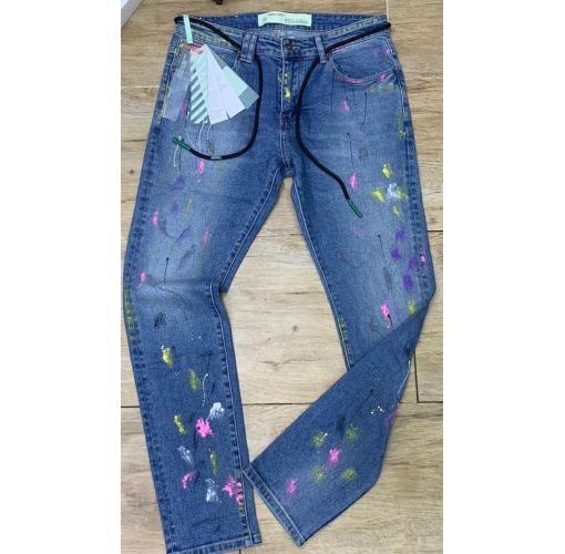 Onitshamarket - Buy OFF-WHITE Adjustable Waist Jeans