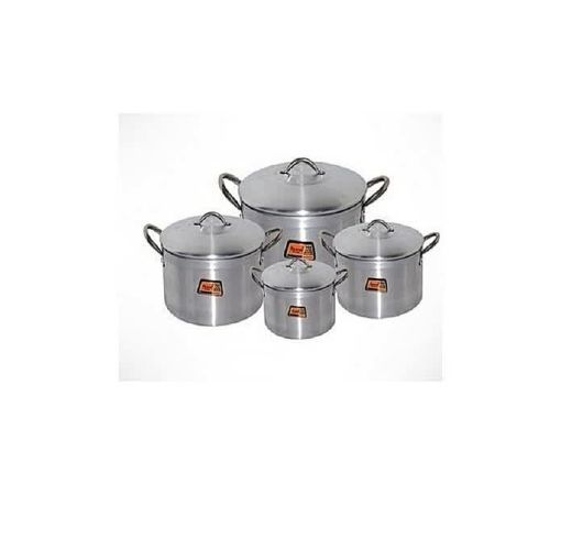 Onitshamarket - Buy Tower Cooking Pot of 4 Pieces - Silver (Tower Trim) 16, 18, 20 And 22cm