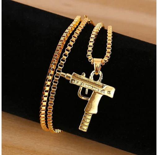 Onitshamarket - Buy Fashion Special Personality Fashion Men Necklace Hip Hop Style Men Gun Shape Alloy Men's Jewelry