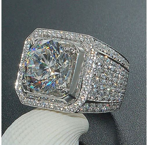 Onitshamarket - Buy Fashion Fashion New Domineering Men's Ring Full Diamond Inlaid Zircon Ring