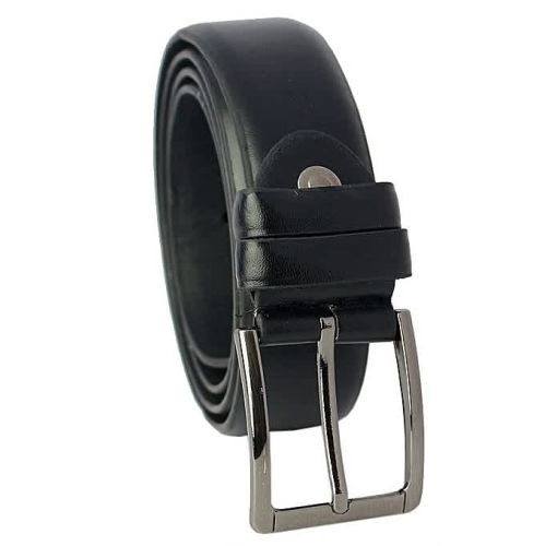 Onitshamarket - Buy Jeans Smooth Leather Slim Belt- Black