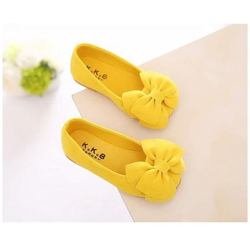 Onitshamarket - Buy Shoes Baby Girl Shoes Children Bow Princess Shoes Yellow