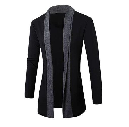 Onitshamarket - Buy Jim moon Stylish Men Fashion Cardigan Jacket Slim Long Sleeve Casual Coat DG M -Dark Gray - Fashion Clothing