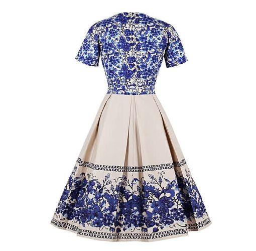 Onitshamarket - Buy Fashion Women Elegant Vintage Retro Dress V-neck Clothing