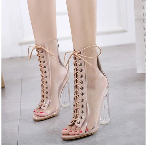 Onitshamarket - Buy Fashion Bliccol High Heel Shoes Roman Buckle Strap Shoes Women Sandals Sexy Sandals High Heels Woman Ankle Boots-Khaki - KhakI Heels