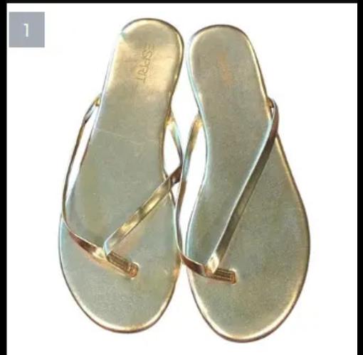 Onitshamarket - Buy Espirit Gold Flip Flop Slide.