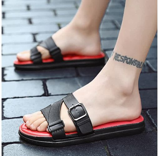 Onitshamarket - Buy KLYWOO Men's Sandals Slippers Slip On Shoes Men- Red Slippers and Sandals