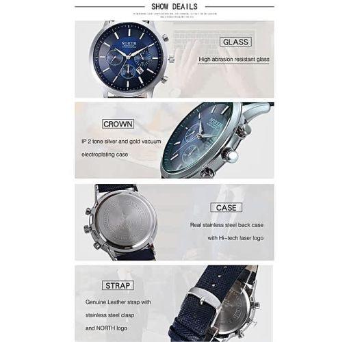 Onitshamarket - Buy North Water Resistant And Waterproof Wrist Watch For Men. Men's Watches