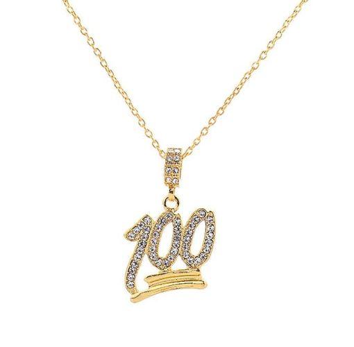 Onitshamarket - Buy Generic Hip-hop Style 100 Pendant Necklace Rhinestone Jewelry