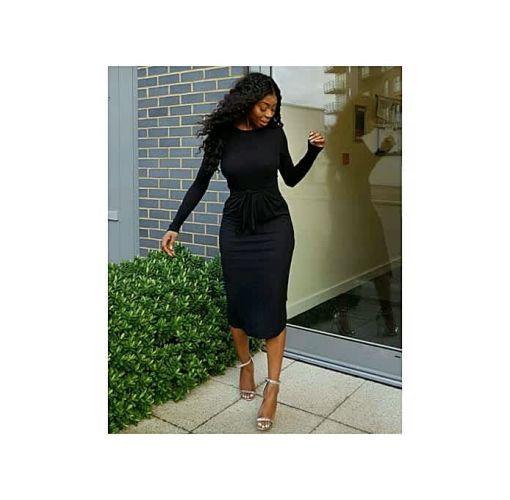 Onitshamarket - Buy Black Apparrel  fitted Dress