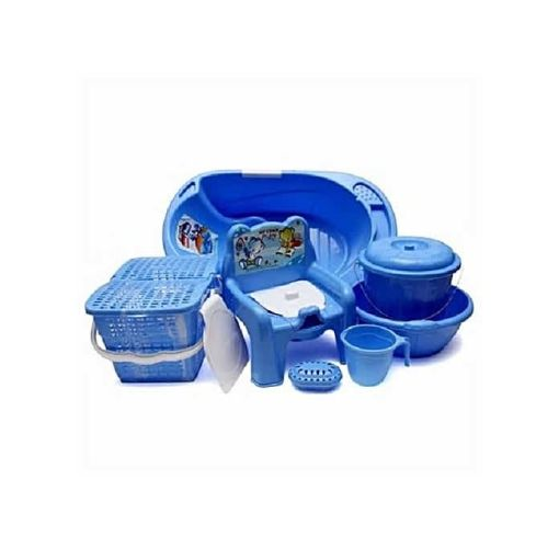 Onitshamarket - Buy Universal Baby Bath Set - 7pcs - Blue