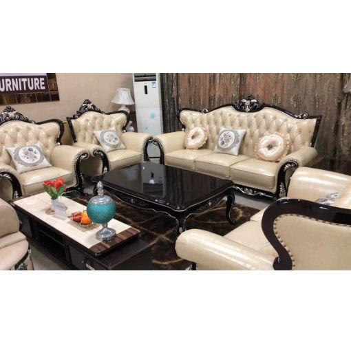 Onitshamarket - Buy Royal leather sofa, with royal centre table and two side table
