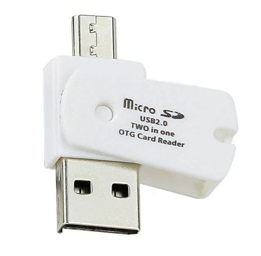 Onitshamarket - Buy Universal OTG Micro USB To USB 2.0 Micro SD TF Card Reader Adapter For Android Phone -White