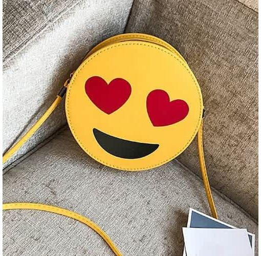 Onitshamarket - Buy Emoji Smiley Face Love Eyes-Cross Body Shoulder Mini Handbag