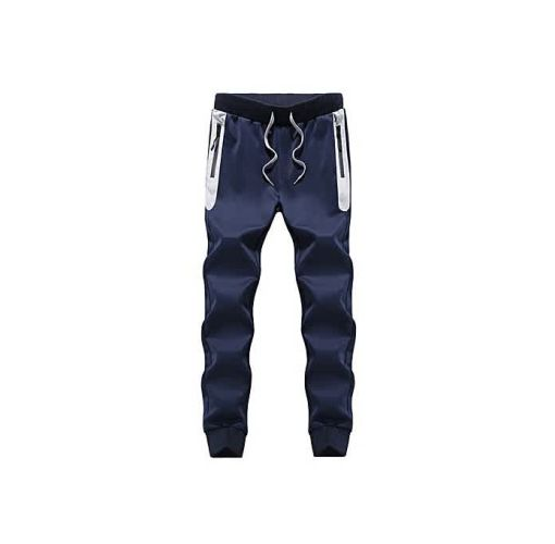 Onitshamarket - Buy Fashion Mens Trousers Casual Pants Sweatpants Men's Slim Pants Blue Clothing