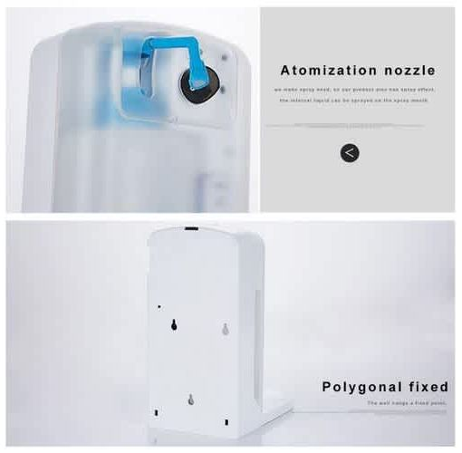 Onitshamarket - Buy 1000ML Large Capacity Automatic Infrared Fluid Spray Dispenser Personal Hygiene 75% Alcohol Sterilizer Disinfection Hand Wash Hand Sanitiser