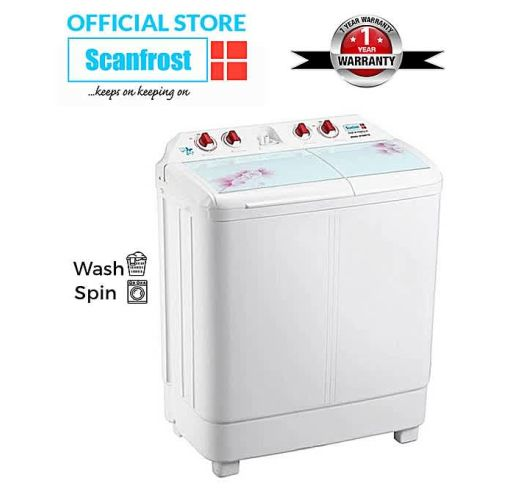 Onitshamarket - Buy Scanfrost 8kg Twin Tub Semi-Automatic Washing Machine