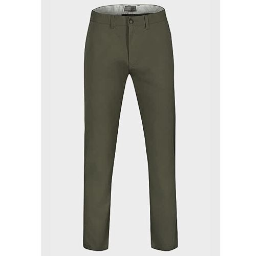 Onitshamarket - Buy Marks & Spencer Straight Leg Mens Cotton Chino Trousers-OLIVE GREEN