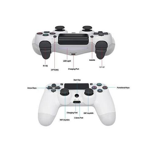 Onitshamarket - Buy PS4 Pad - 4 Wireless Controller Pad - New Model -White - Universal Accessories