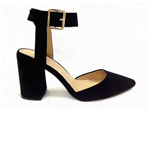Onitshamarket - Buy Vivienne Co Ankle Strap Block Heel Pump - Black