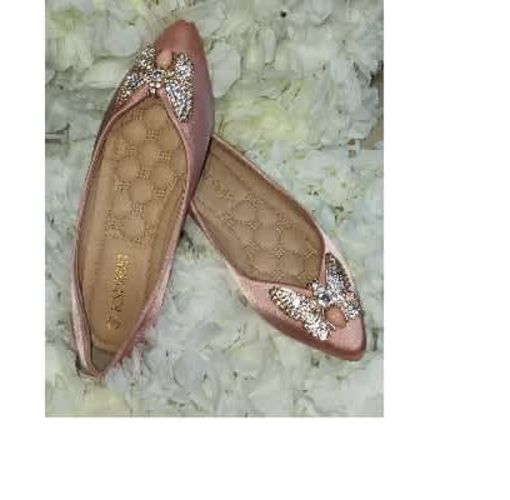 Onitshamarket - Buy Blush Pink Butterfly Flat Shoe