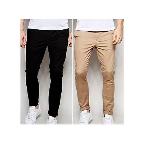 Onitshamarket - Buy Fashion 2-In-1 Men's Chino Trousers - Black/Brown