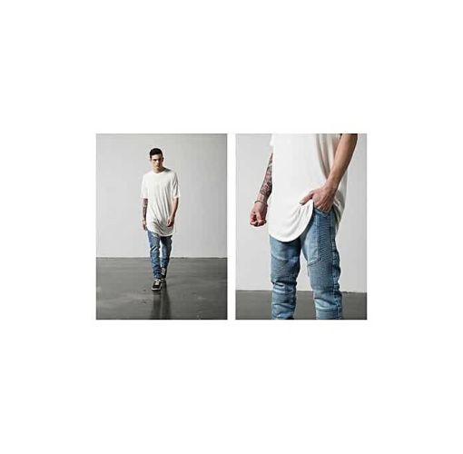 Onitshamarket - Buy Fashion Men Skinny Jeans Men Runway Slim Racer Biker Jeans Strech Hiphop Jeans For Men-blue