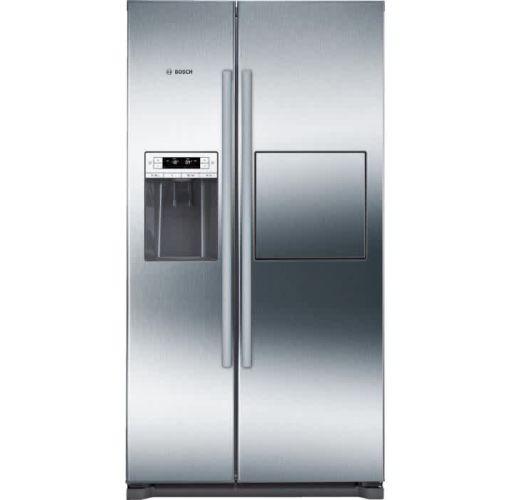 Onitshamarket - Buy Bosch Series 6, Side-by-Side American-style Fridge Freezer Stainless Steel Easy-Clean Door And Grey Side Panels, Inox, 522L Applicances