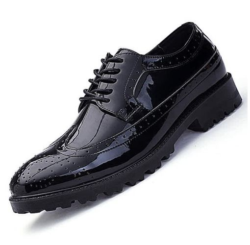 Onitshamarket - Buy Classic men Dress shoes Genuine leather carved italian large size formal shoes oxford black.