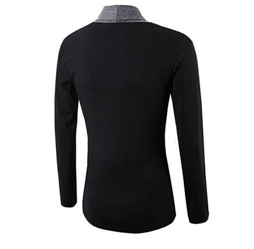 Onitshamarket - Buy Jim moon Stylish Men Fashion Cardigan Jacket Slim Long Sleeve Casual Coat DG M -Dark Gray - Fashion