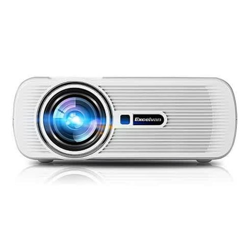 Onitshamarket - Buy Excelvan Mini Portable Multimedia LCD LED Projector 800x480 Pixels 1500 Lumens Home Theater Cinema - WHITE Projectors