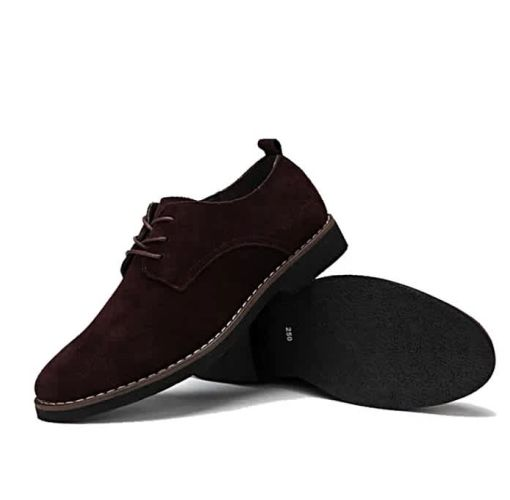 Onitshamarket - Buy Cow Suede Leather Luxury Brand Moccasins For Men- Coffee Brown