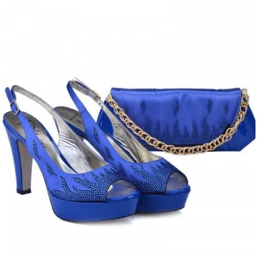 Onitshamarket - Buy Palmeri Shoe & Purse | Royal Blue