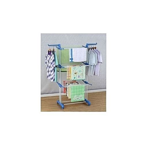 Onitshamarket - Buy Cloth Hanger Rack With Double Pole-Stand - 3 Tier