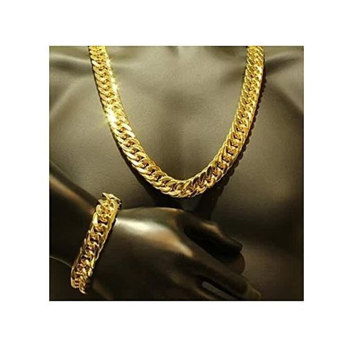 Onitshamarket - Buy Fashion Cuban Link Chain With Bracelet