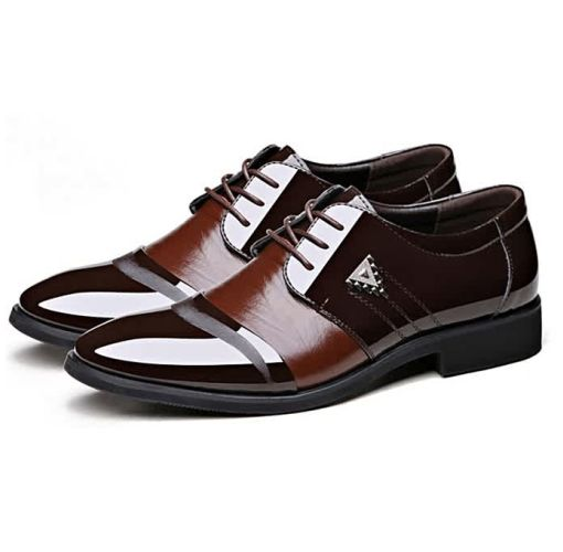 Onitshamarket - Buy Men formal lace up   Pu shoes Brown Casual Shoes