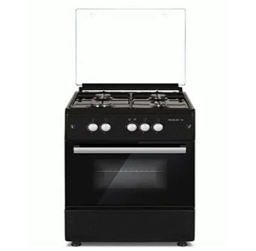 Onitshamarket - Buy Maxi Gas Cooker 60 * 60 4B - Basic Black Grey Cookware