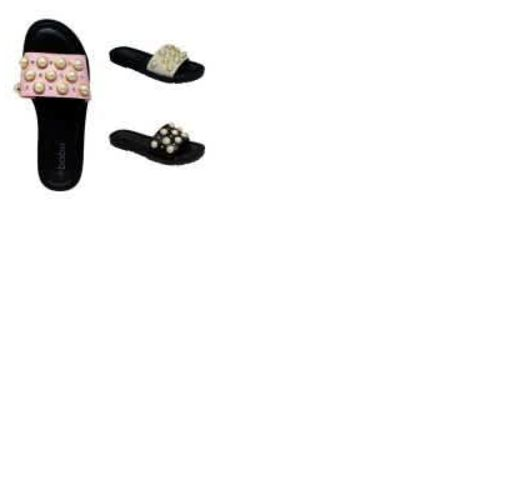 Onitshamarket - Buy Women Black Pearl Stone Slippers.