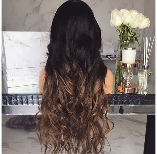 Onitshamarket - Buy Long Curly Hair with Large Wave Gradient Color Chemical Fiber Wig Hair Care